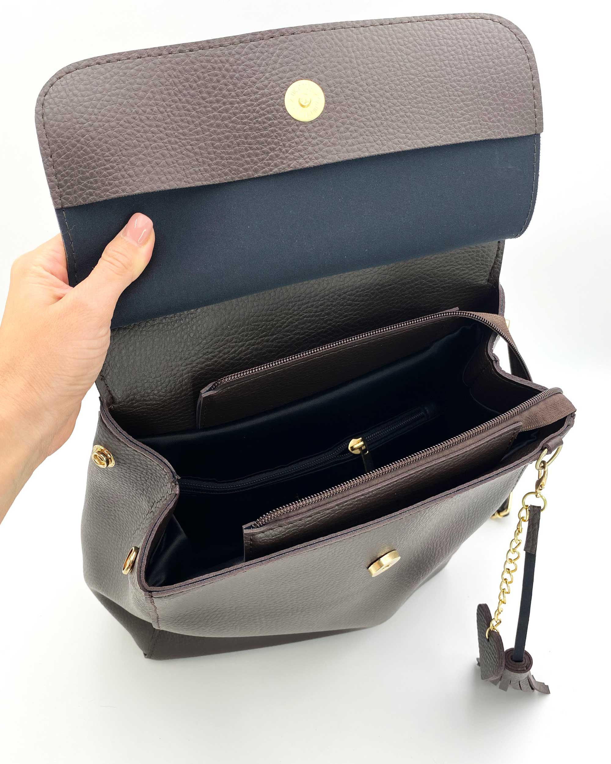 5d9006ec87b9 Молодежный сумка-рюкзак Сердце шоколадного цвета оптом арт.44605 ...