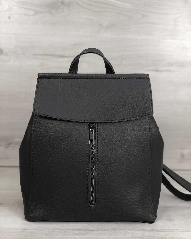 Молодежный сумка-рюкзак Фаби серого цвета