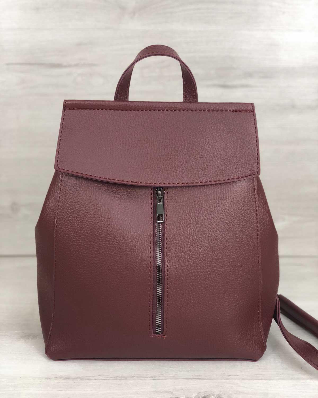 Молодежный сумка-рюкзак Фаби бордового цвета