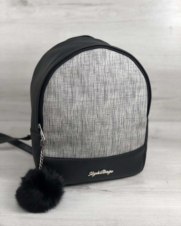 Рюкзак «Мэри» черный с серым