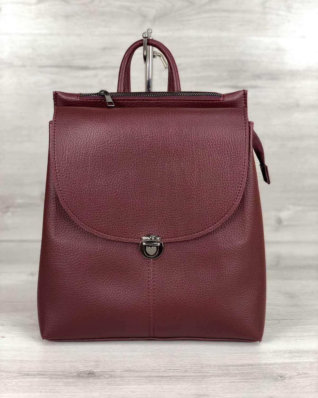 Рюкзак сумка молодежный  Эшби бордовый