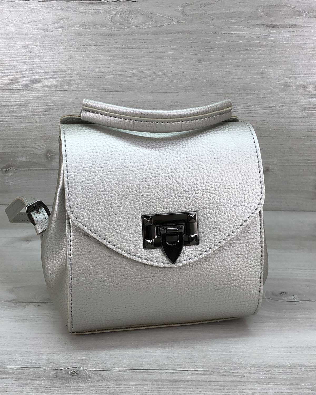 Сумка-рюкзак Chris серебро