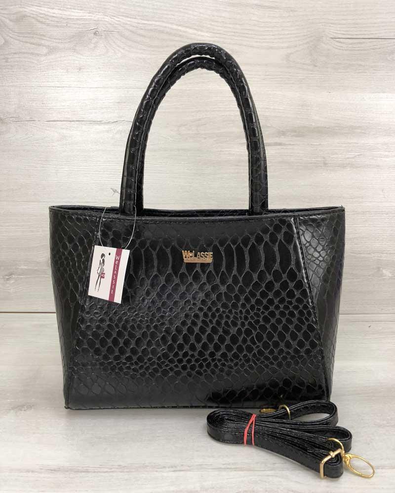 Женская сумка черная кобра