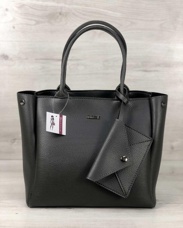 2в1 Молодежная сумка Аланна серого цвета