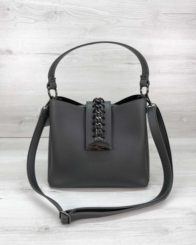 Женская сумка Сати серого цвета