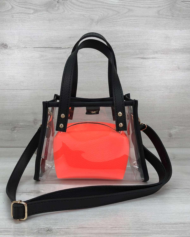 Маленькая силиконовая сумка Aster оранжевая