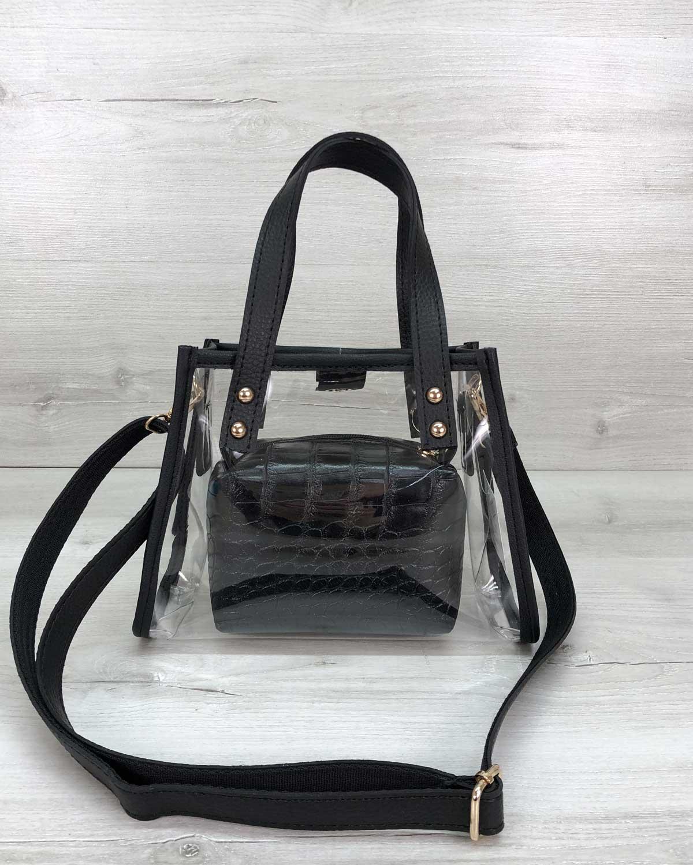 Маленькая силиконовая сумка «Aster» черная