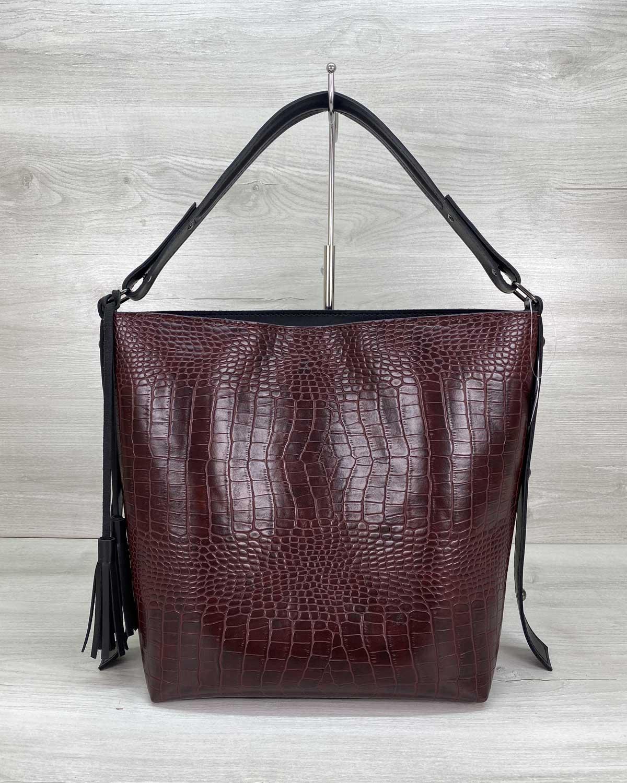 Женская сумка «Шерри» бордовая