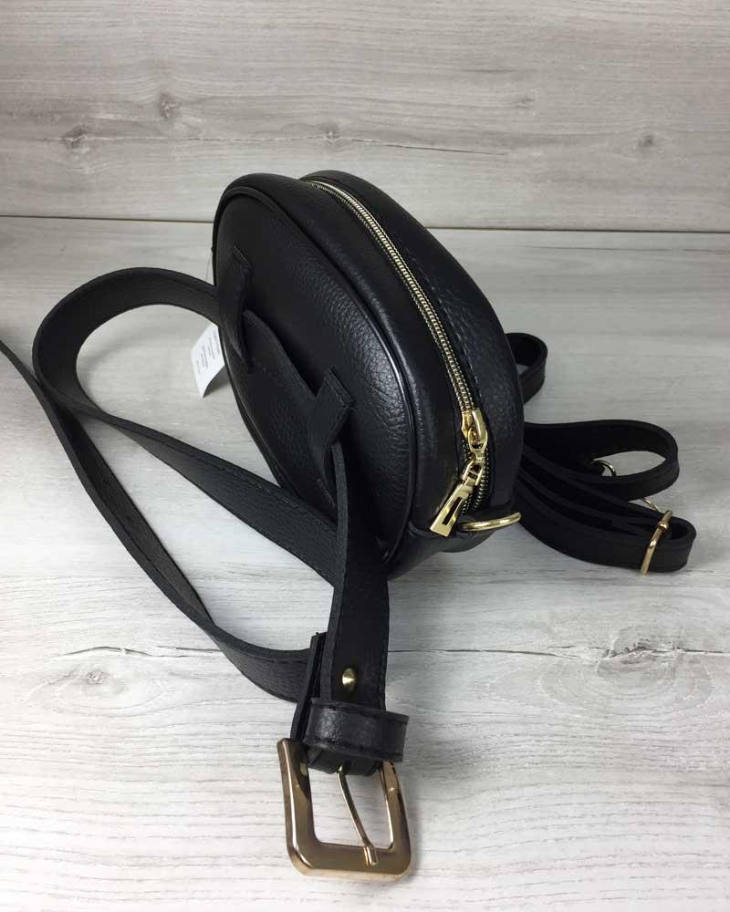 fb426d93 Женская сумка на пояс- клатч WeLassie черного цвета Бархат синий ...
