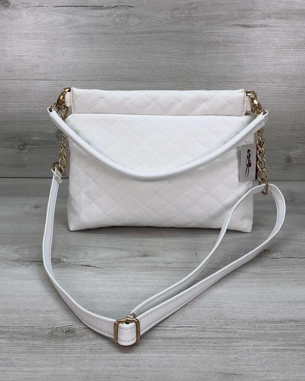 Женская сумка клатч «Ava» белая