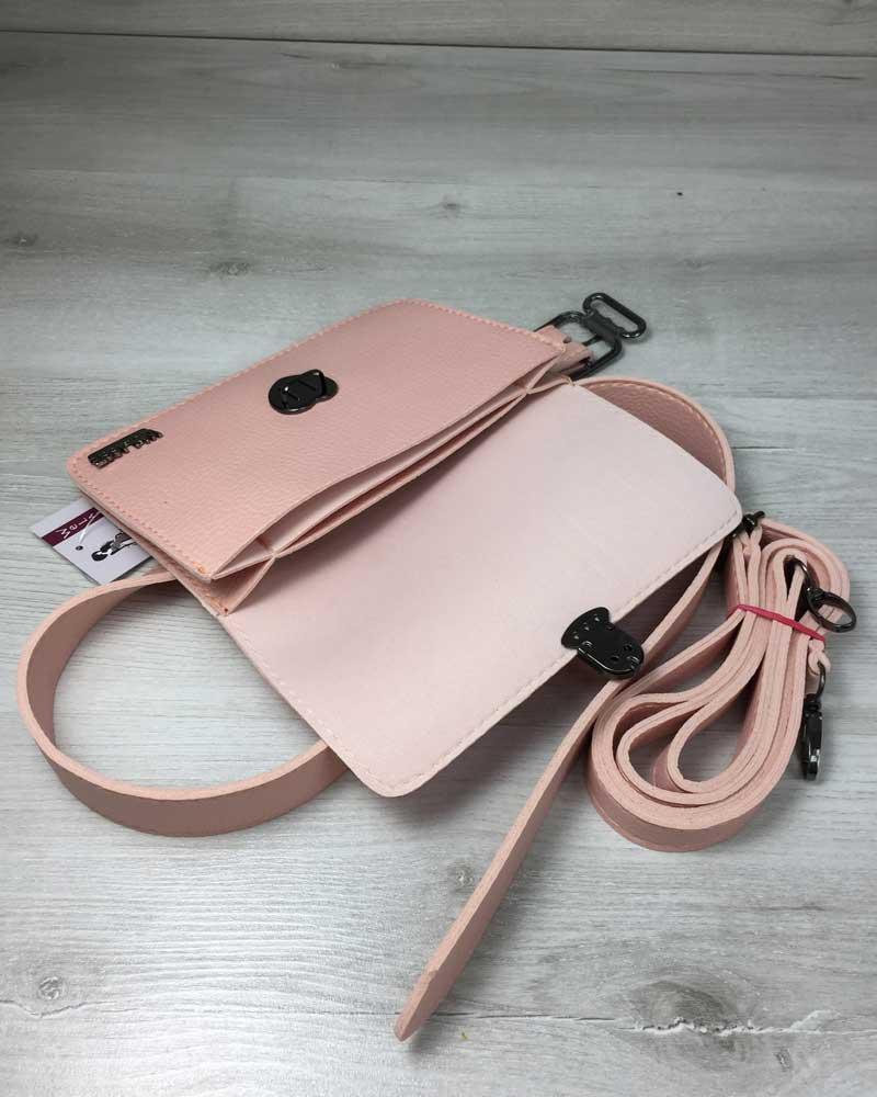 Женская сумка на пояс- клатч Арья пудрового цвета оптом арт.60410 ... dc6bef6521065