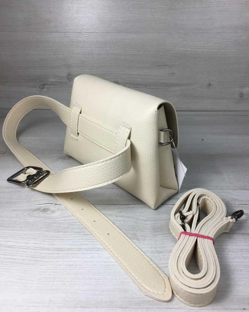 75f75913ba02 Женская сумка на пояс- клатч Белла бежевого цвета оптом арт.60609 ...