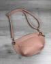 Женская сумка сумка на пояс- клатч Нана пудрового цвета