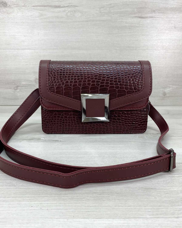 Женская сумка клатч «Арни» бордовая