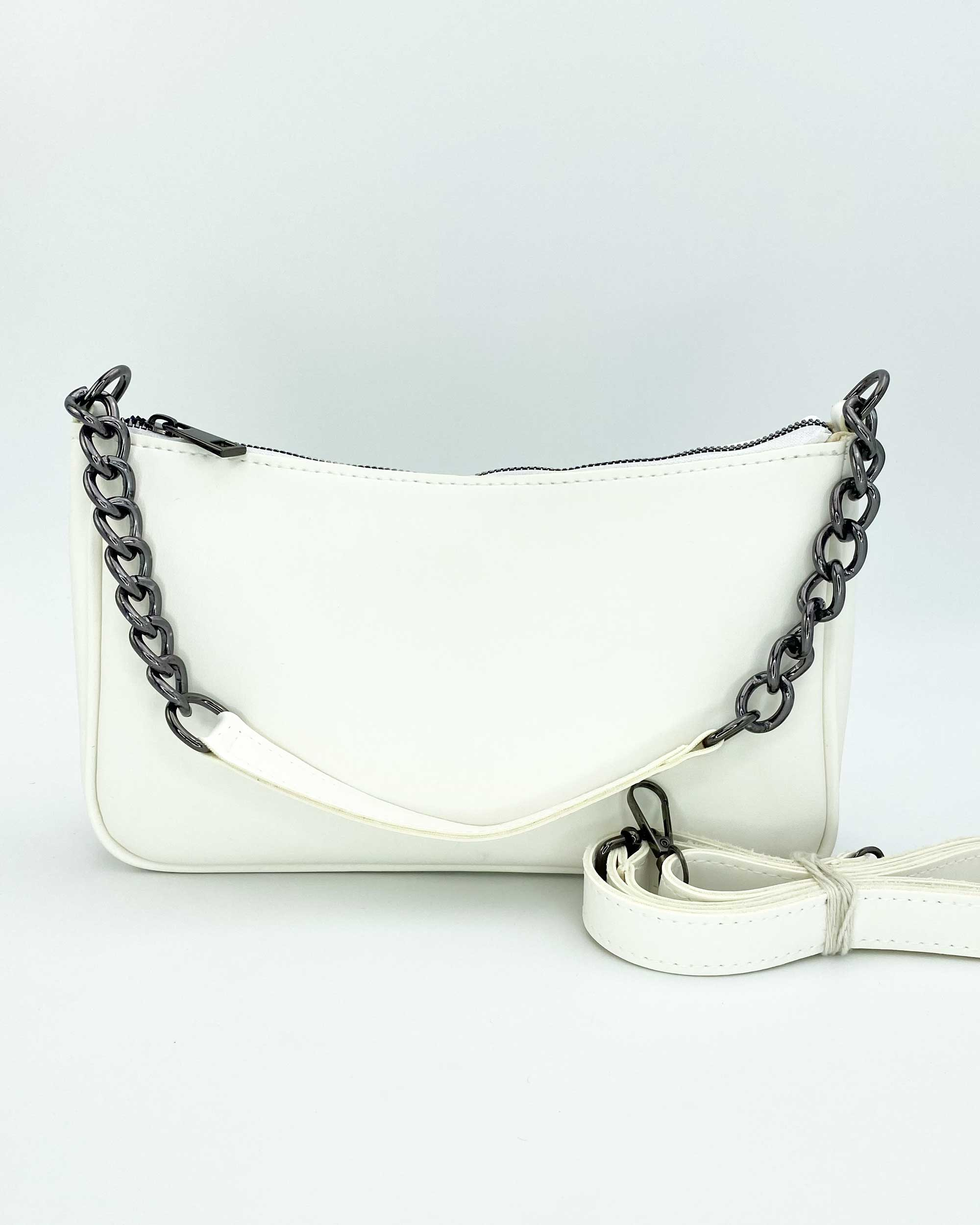 Женская сумка «Луна» белая