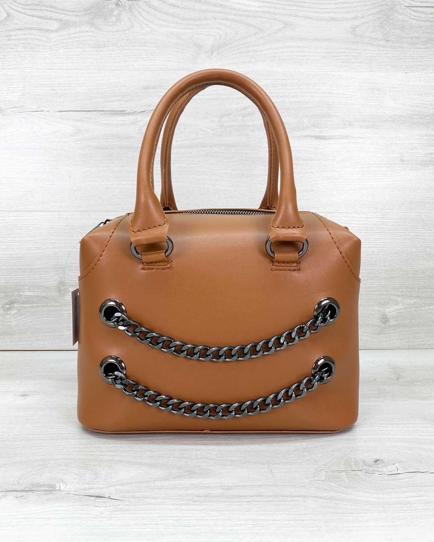Женская сумка «Jean» рыжая