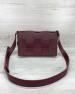 Женская сумка Bottega плетеная бордовая