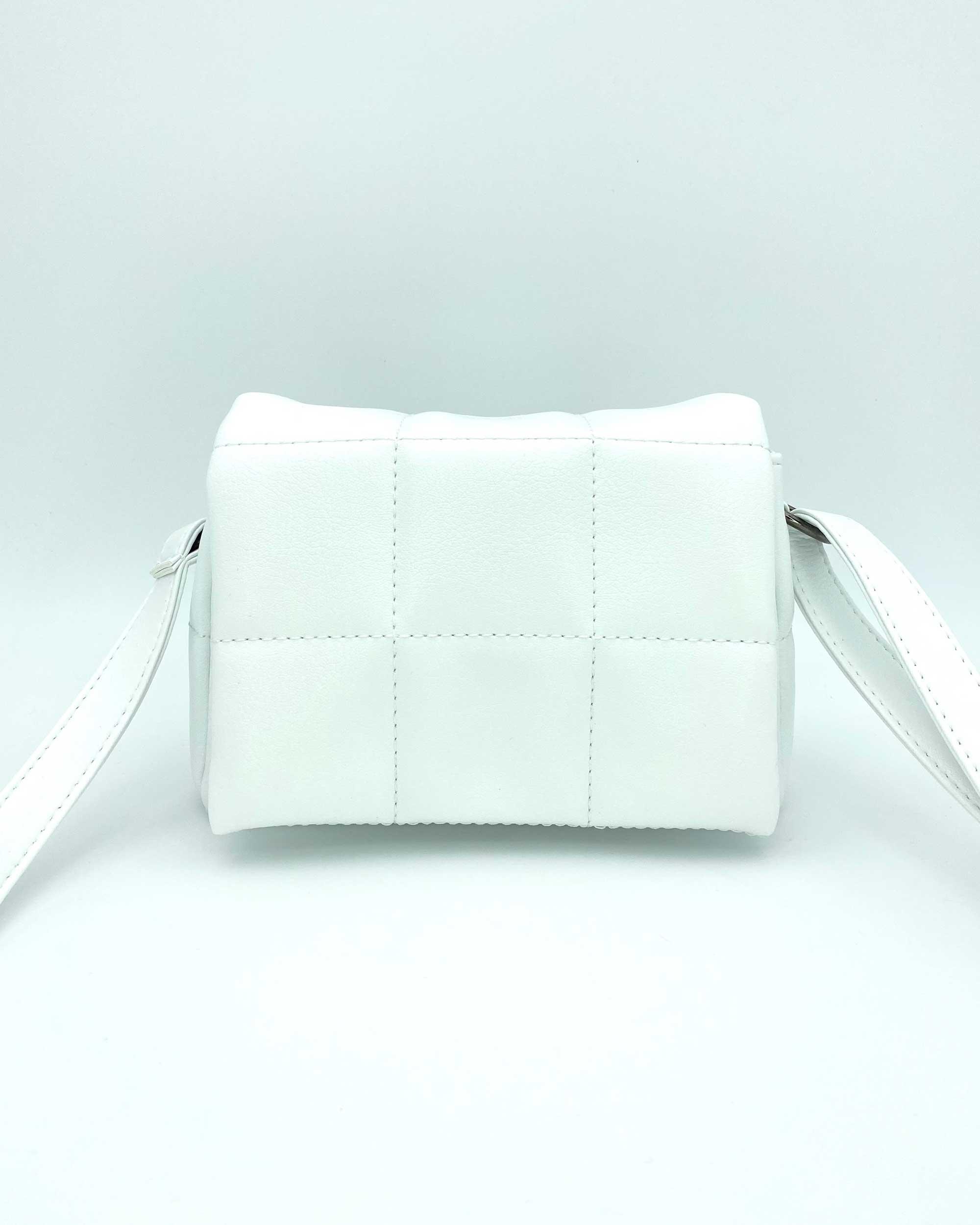 Женская сумка «Дина» белая маленькая