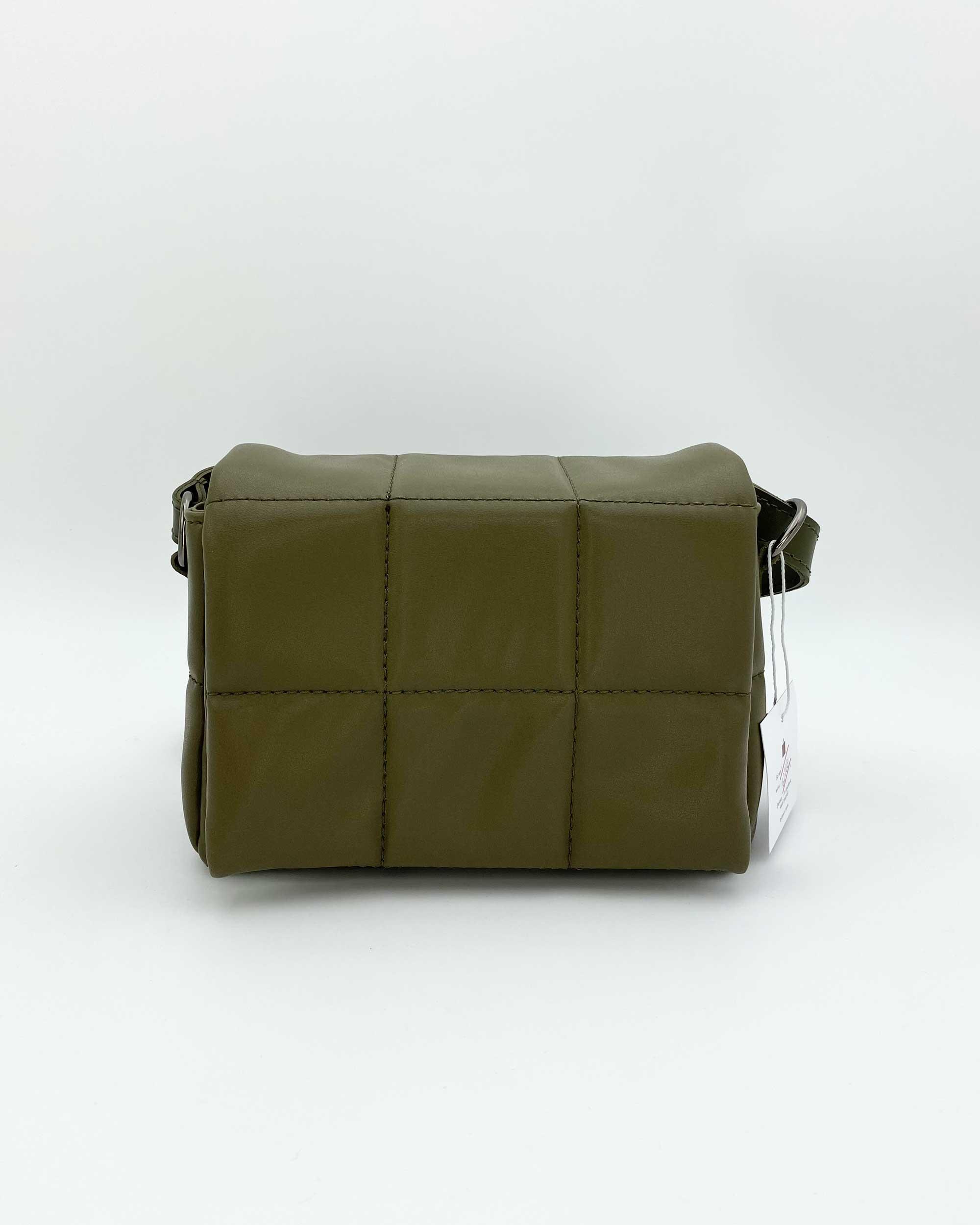 Женская сумка «Дина» оливковая маленькая