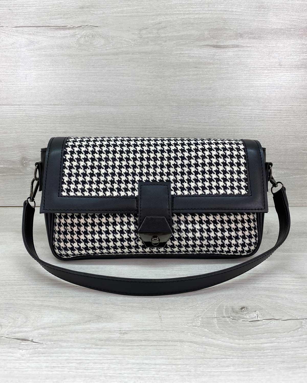 Женская сумка «Наоми» черно-белая