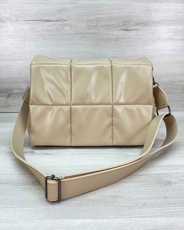 Женская сумка «Камила» бежевая
