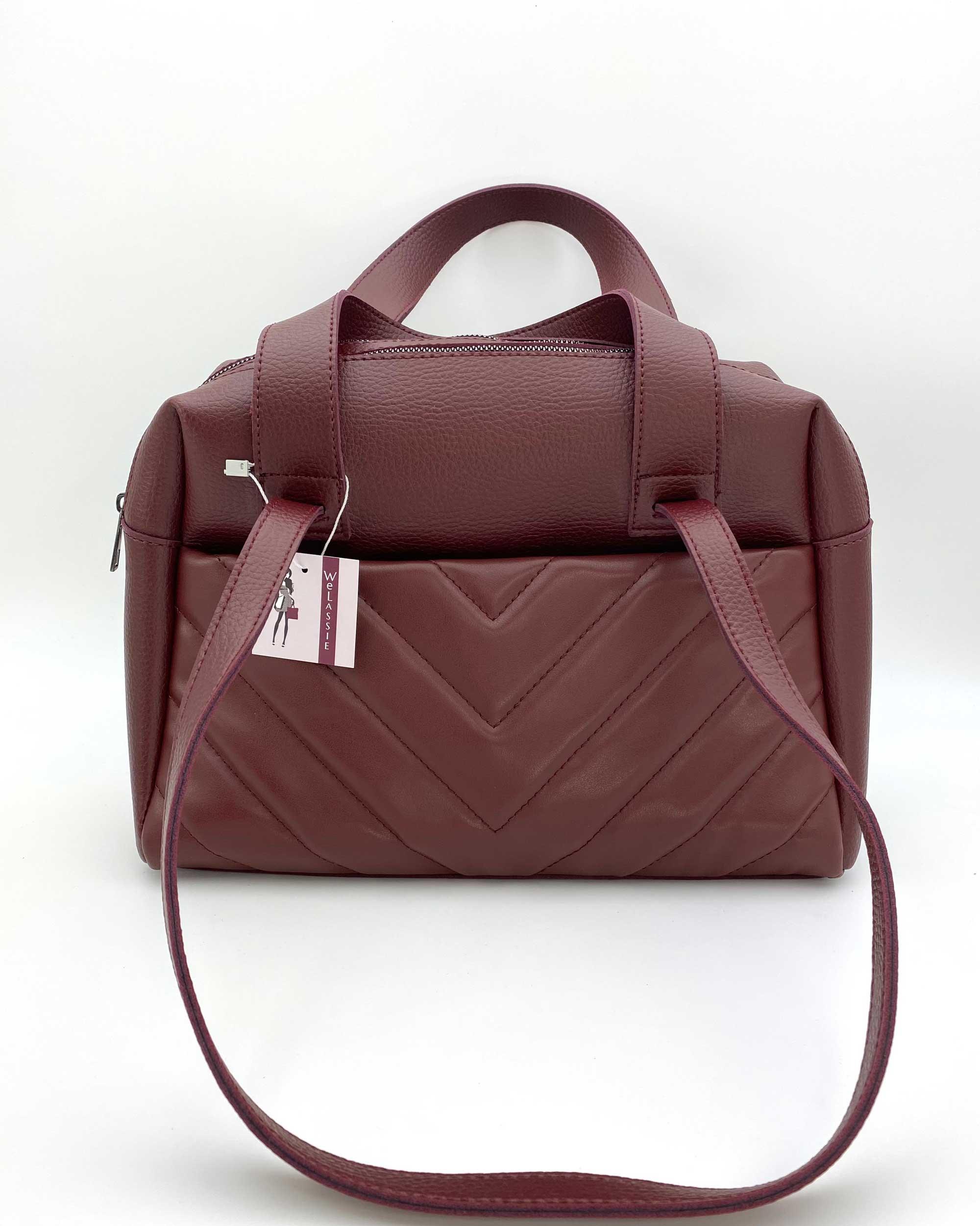 Женская сумка «Грейс» бордовая