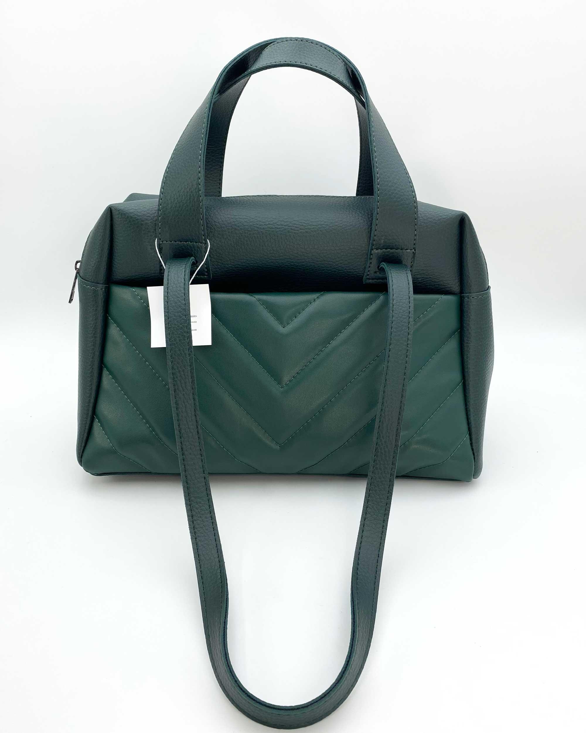 Женская сумка «Грейс» темно-зеленая