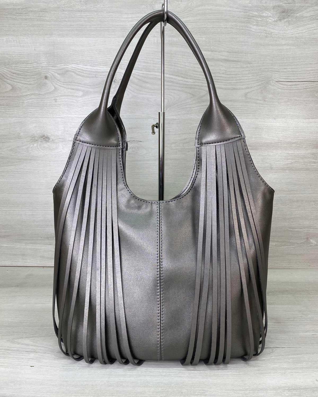 Женская сумка «Хелен» металлик