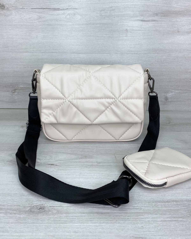 Женская сумка «Роуз» бежевая
