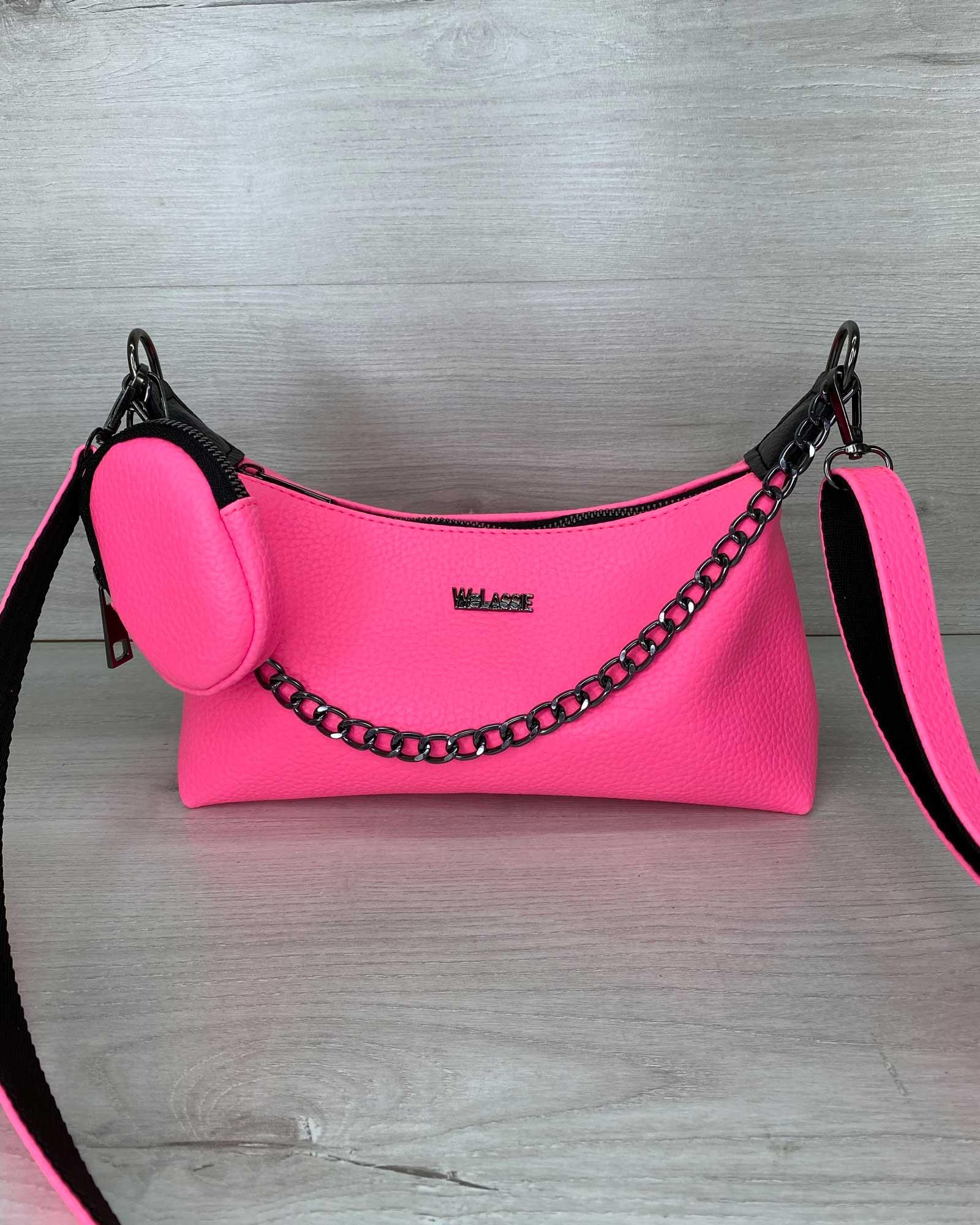 Женская сумка «Лойс» малиновая