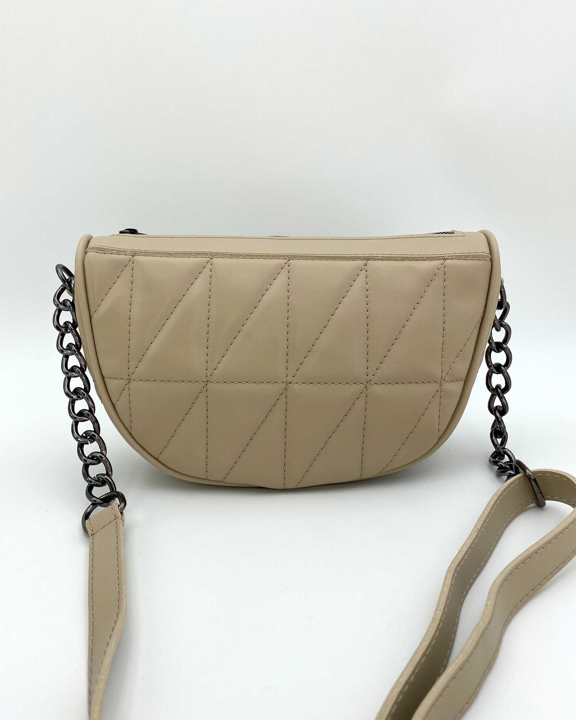 Женская сумка «Лайзи» бежевая