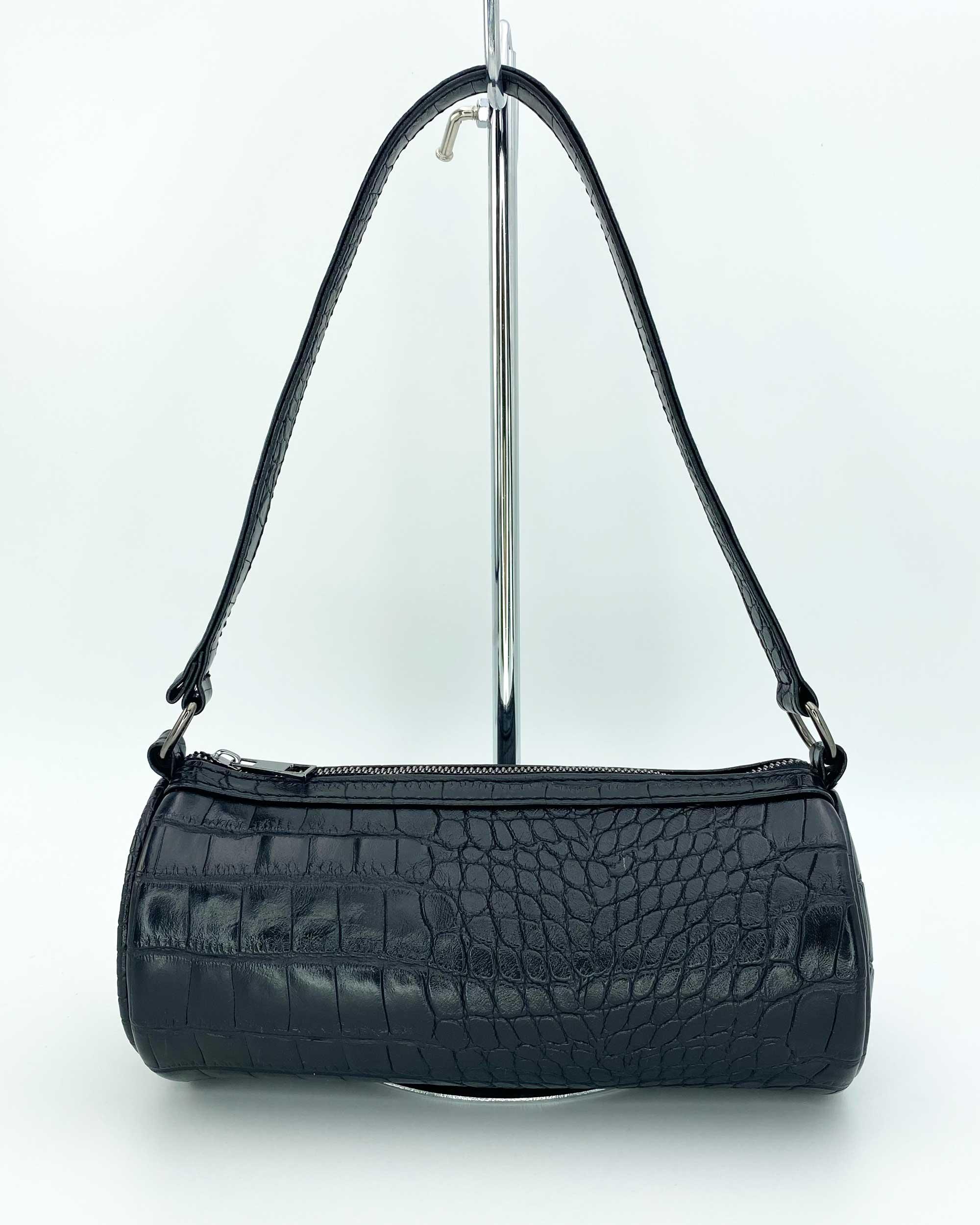 Женская сумка «Бэтс» оптом черный крокодил