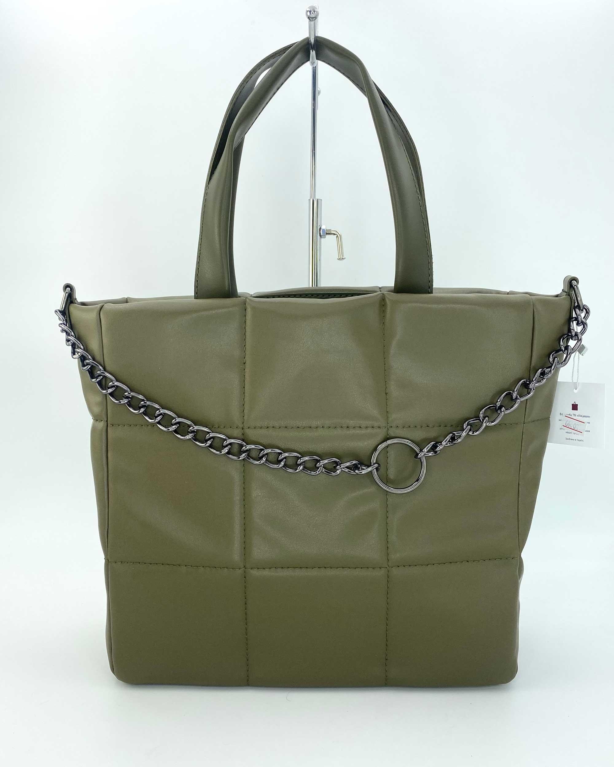 Женская сумка «Дэйна» оливковая