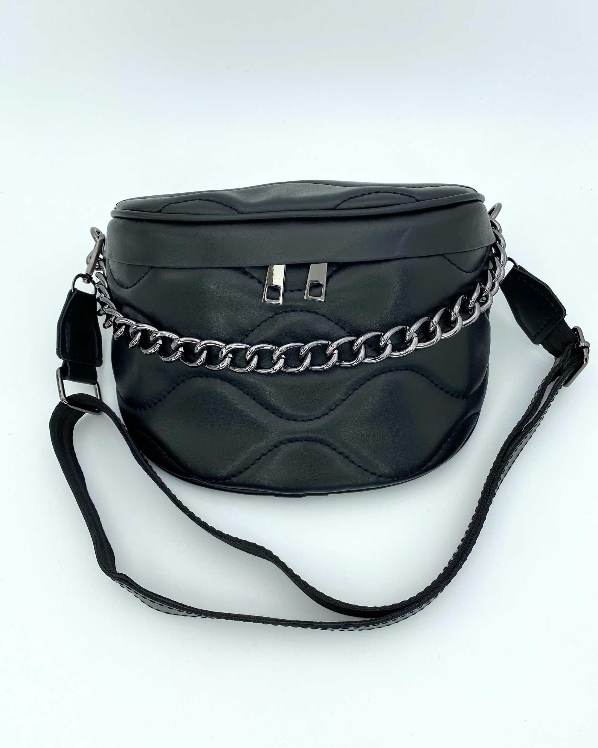 Женская сумка «Пеги» черная