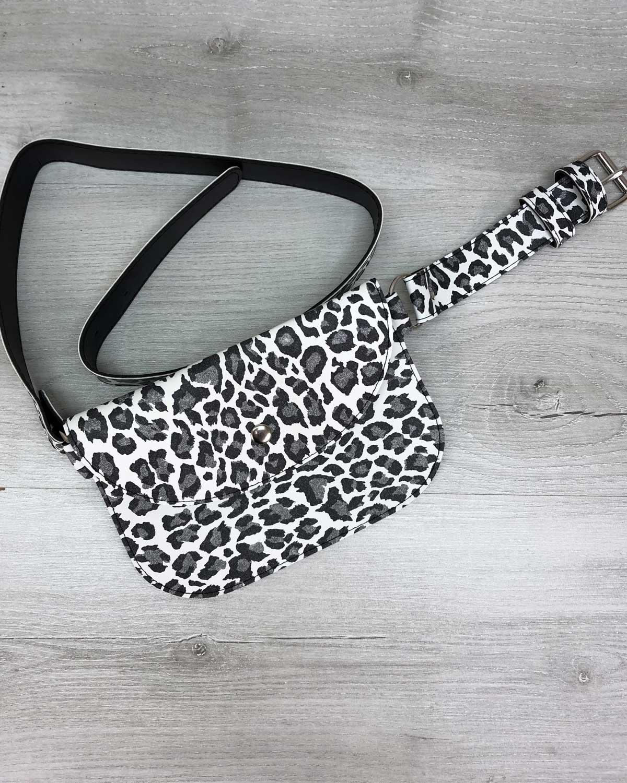 Женская сумка Kim черно-белая
