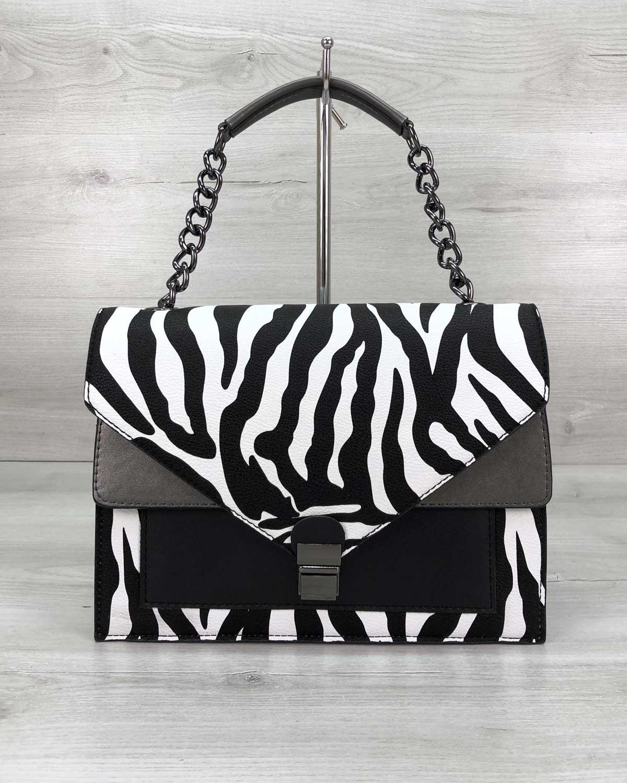 Стильная сумка Amber зебра